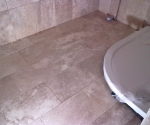 058 Shower, Travertine Walls and Floor
